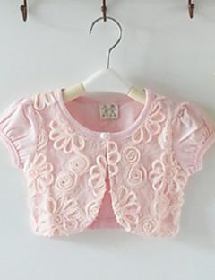 kinderen wraps korte mouwen kant / polyester party / casual prinses bolero wit / roze bolero schouderophalen
