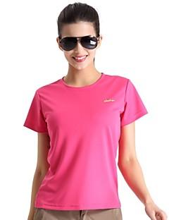 Mulheres Camiseta de Trilha Secagem Rápida Respirável Materiais Leves Antibacteriano Camiseta Blusas para Acampar e Caminhar Pesca