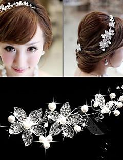 Tiare/Serre-tête/Fleurs/Chaîne pour Cheveux Casque Mariage/Outdoor/Occasion spéciale Alliage/Perle/Cristal FemmeMariage/Outdoor/Occasion