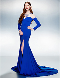 Evento Formal Vestido - Trompeta/Sirena Corte - Joya Jersey