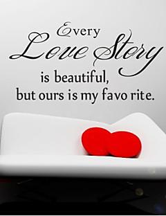 hver kærlighedshistorie er smukke væg decals zooyoo8145 stue flytbare vinyl wall stickers boligmontering