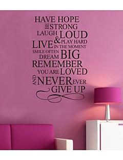 har hopp inspirera citationstecken vägg dekal zooyoo8033 dekorativa DIY löstagbar vinyl väggen klistermärken