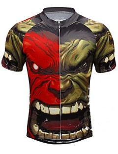 Camiseta ( Negro ) - de Ciclismo - Transpirable/Secado rápido/Capilaridad/Compresión - de Mangas cortas Hombres Primavera/VeranoAlta