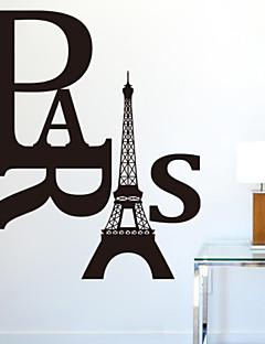 paris aftagelige diy væg decals zooyoo8186 aftagelige vinyl wall stickers boligmontering