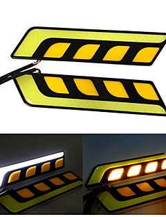 Dimmable 7.5W High Power COB 6000~8000K White / Yellow Light LED Car Daytime Running Light