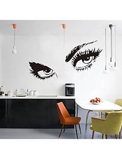fri frakt hepburns ögon vinylväggdekaler zooyoo8024 vägg klistermärke 80 * 150cm vattentäta fönster heminredning