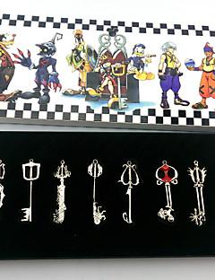 Více doplňků Inspirovaný Kingdom Hearts Cosplay Anime a Videohry Cosplay Doplňky Klíčenka Zlatá / Stříbro Stop Dámský
