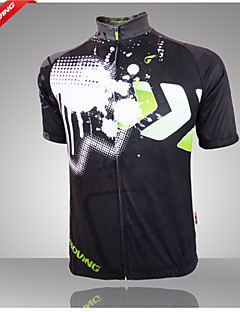 Getmoving® Cycling Jersey Men's Short Sleeve BikeBreathable / Anatomic Design / Ultraviolet Resistant / Front Zipper / High Breathability