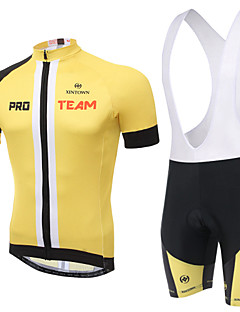 Cycling Jersey with Bib Shorts Unisex Short Sleeve Bike Breathable / Quick Dry / Static-free / Compression / 3D PadBib Shorts / Clothing