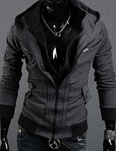 Elasthaan/Organisch katoen/Polyester - Effen - Heren - Activewear Sets - Lange mouw