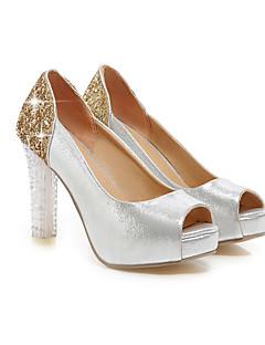 Women's Shoes Glitter Stiletto Heel Peep Toe Sandals Wedding/Party & Evening/Dress Blue/Purple/Silver/Gold