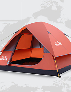 Hewolf Moistureproof/Waterproof/Breathability/Rain-Proof Polyester One Room Tent Blue/Orange(200X200X130cm)