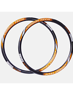 NEASTY Brand  New Process Seamlessly Orange+White Decal Full Carbon Fiber MTB Bicycle Rim Height=28mm Width=27mm