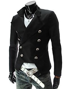 男性用 プレイン カジュアル / フォーマル ブレザー,長袖 コットン混 ブラック / レッド / ホワイト
