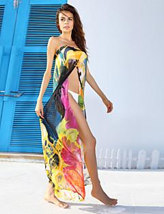 Kvinner Blomstret Cover-up Polyester