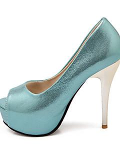 Women's Shoes  Stiletto Heel Peep Toe Sandals Wedding/Party & Evening Blue/Silver/Gold