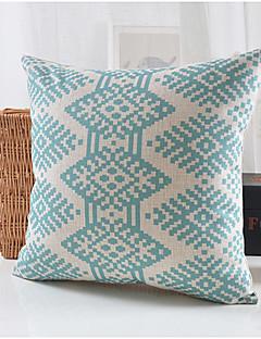 style moderne coton motif bleu / lin taie d'oreiller décoratif
