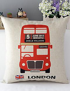 euro london buss mönstrad bomull / linne dekorativa kuddöverdrag