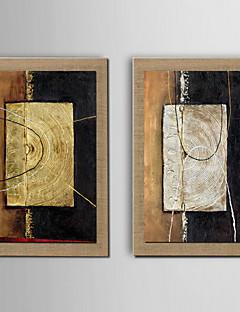 Abstract Pânză Înrămată Set Înrămat Wall Art,PVC Material Maro Fără Rogojină cu Frame For Pagina de decorare cadru Art