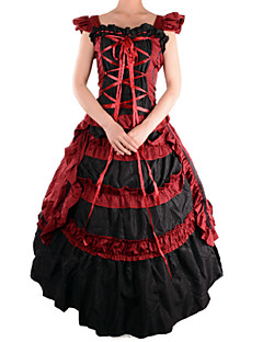 Retro Red Sleeveless Cotton & Terylene Lolita Costume