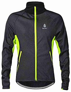 WOLFBIKE® Cycling Jacket Men's Long Sleeve Bike Thermal / Warm / Windproof / Fleece Lining / Lightweight Materials / Back Pocket