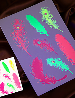 4PCS 2015 New Fluorescent Temporary Tattoo Sticker Body Art Painting Fake Tattoo Taty Tatto Jewelry Design