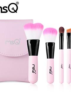 msq® 5pcs set di pennelli di fibre di colore rosa di trucco + stb05p