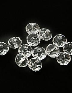 beadia 120pcs módní skleněné ploškované křišťálové korálky 6x8mm ploché kulatý tvar transparentní barevné kutilství distančních volné