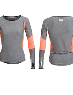 Women's Long Sleeve Running T-shirt Tops Breathable Quick Dry Moisture Permeability Sweat-wicking Summer Sports WearYoga Pilates Exercise