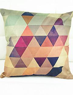 geometria cromática tampa almofadas decorativas (17 * 17 polegadas)