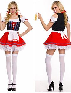 Zentai - Feminino - de Halloween/Carnaval/Oktoberfest - Uniformes - Fantasias - Vestido
