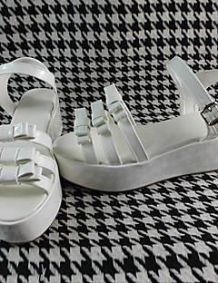 Handmade White 6cm High Heel Sweet Lolita Shoes