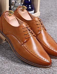 Chaussures Hommes Mariage/Décontracté/Soirée & Evénement Cuir Richelieu Noir/Jaune
