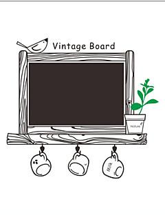 Tavle Vægklistermærker Fly vægklistermærker Dekorative Mur Klistermærker Materiale Kan fjernes Hjem Dekoration Vægoverføringsbillede