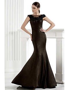 TS Couture® Formal Evening Dress Plus Size / Petite Trumpet / Mermaid Scoop Floor-length Knit with Appliques