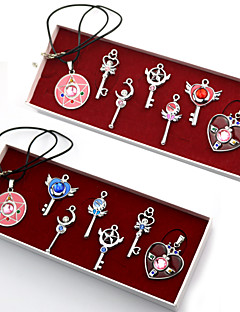 Sailor Moon Series  Make Up Prop Pendants Set Cosplay Accessories (7 Pieces)