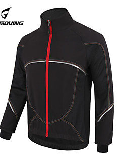 Getmoving® Cycling Jacket Unisex Long Sleeve BikeWaterproof / Breathable / Anatomic Design / Fleece Lining / Rain-Proof / Front Zipper /