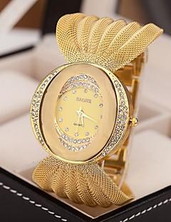 Damen Kleideruhr Modeuhr Quartz Imitation Diamant Legierung Band Glanz Silber Braun Gold Silber Golden Braun-Gold