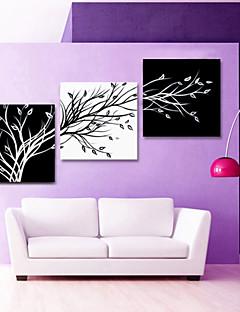 visuell star®black och vitt abstrakta träd duk väggkonst för vardagsrummet inredning redo att hänga
