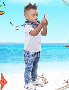 Boy's Cotton Blend / Denim Clothing Set,All Seasons Solid