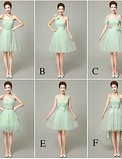 Cocktail Party Dress - Short / Elegant / Lace-up A-line Strapless Short / Mini Tulle with Bow(s) / Crystal Detailing / Flower(s)