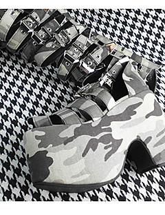 handgemachte dunkelgrün 10 cm hohen Absatz der Punk Lolita Schuhe