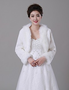 Fur Wraps / Fur Coats Coats/Jackets Faux Fur Ivory