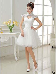 Short / Mini Tulle Mix & Match Sets Bridesmaid Dress - A-line / Princess High Neck / Jewel / Scoop / V-neck with