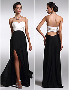 TS Couture Formal Evening Dress - Multi-color Plus Sizes / Petite Sheath/Column Strapless Floor-length Satin Chiffon