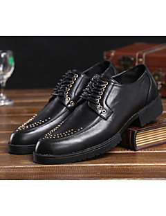 Men's Shoes Wedding/Casual/Party & Evening Leather Oxfords Black/Yellow/Red