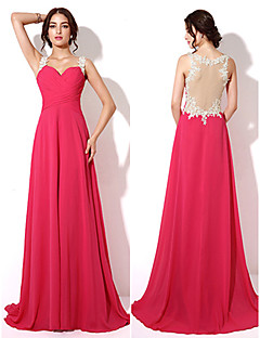 Formal Evening Dress - Fuchsia Plus Sizes / Petite A-line Sweetheart Floor-length