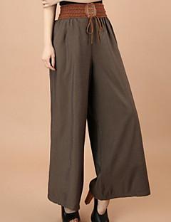 Naisten housut - Puuvillaseos - Löysät - Joustamaton - Ohut
