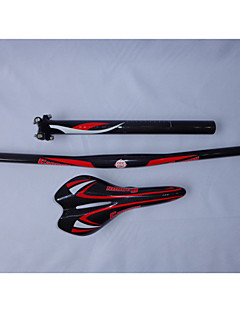 HB07+SA10+SP15 Neasty Brand Full Carbon Fiber Mtb Bike Handlebar Saddle Seatpost Red Color