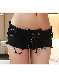 Kvinner Sexy/Fritid/Party Shorts Bukser Annet Mikroelastisk